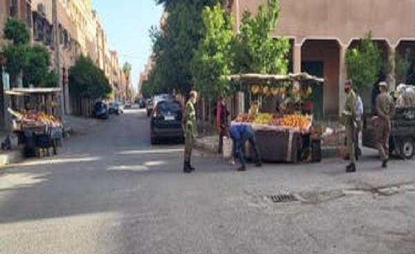 اعتقال بائع متجول هاجم رجال القوات المساعدة بالسلاح الأبيض في حي المسيرة 3