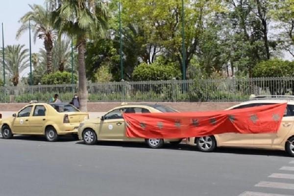 مهنيو قطاع سيارات الأجرة يحتجون في مراكش