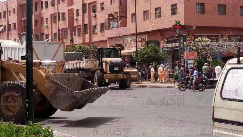 السلطات تصادر عربات باعة متجولين بسلعها بالمحاميد9 وسط هيجان الباعة