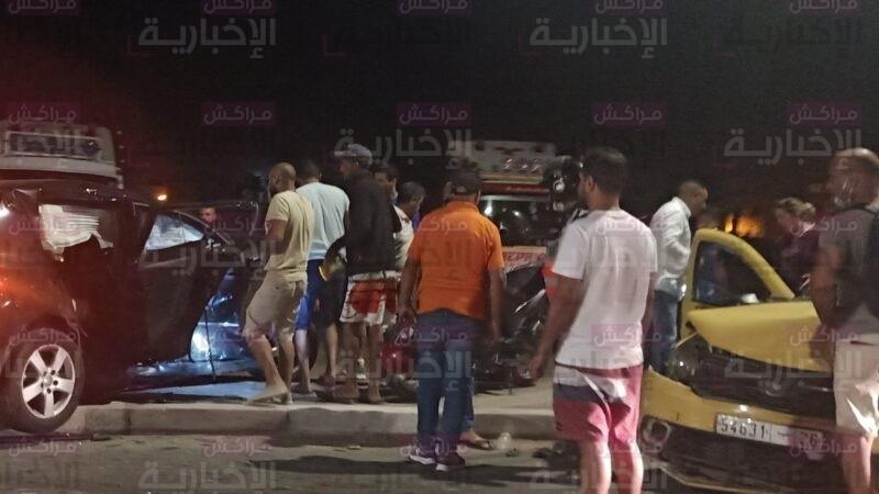 حادث سير مروع على مستوى شارع اسفي قرب مقبرة الرحمة